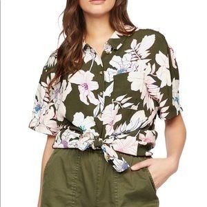 Sanctuary Resort Shirt, Tropic Punch, Size XS NWT